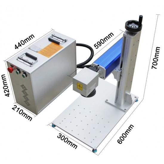 Fiber Markalama Lazer makinası Masa Üstü 20w 30w 50w 100w